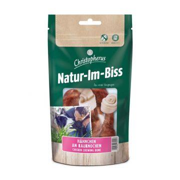 Christopherus Snack Natur-Im-Biss Hähnchen an Kauknochen 70g (Menge: 12 je Bestelleinheit)