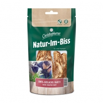 Christopherus Snack Natur-Im-Biss Ente - Seelachs - Duett 70g (Menge: 12 je Bestelleinheit)