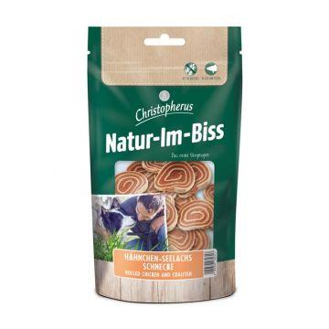 Christopherus Snack Natur-Im-Biss Hähnchen-Seelachs Schnecke 70g (Menge: 12 je Bestelleinheit)
