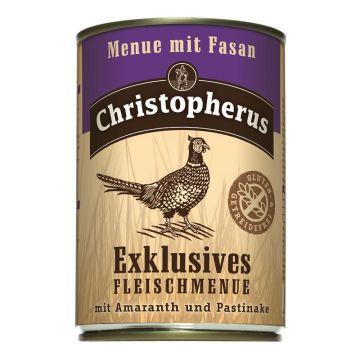 Christopherus Dose Menue mit Fasan 400g (Menge: 6 je Bestelleinheit)