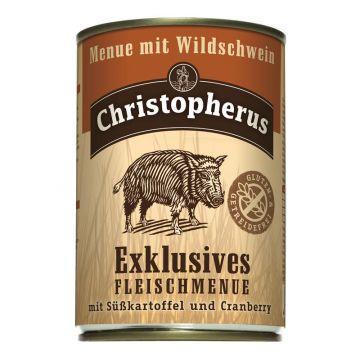 Christopherus Dose Menue mit Wildschwein 400g (Menge: 6 je Bestelleinheit)