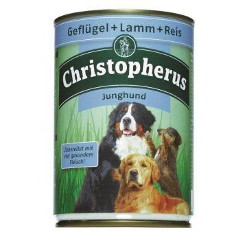 Christopherus Dose Junghund Geflügel, Lamm & Reis 400g (Menge: 6 je Bestelleinheit)