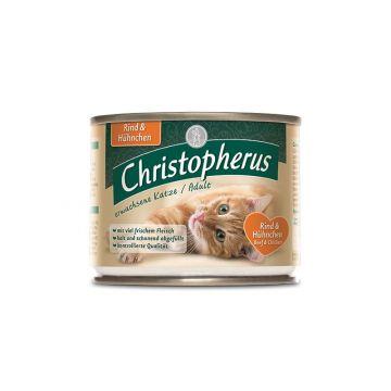 Christopherus Cat Dose Adult Rind & Huhn 200g (Menge: 6 je Bestelleinheit)