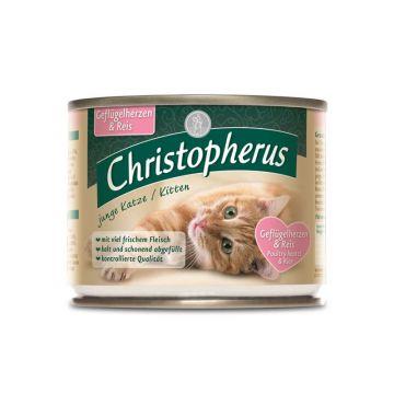 Christopherus Cat Dose Junge Katze Geflügelherzen & Reis 200g (Menge: 6 je Bestelleinheit)