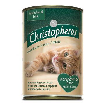 Christopherus Cat Dose Adult Kaninchen & Ente 400g (Menge: 6 je Bestelleinheit)