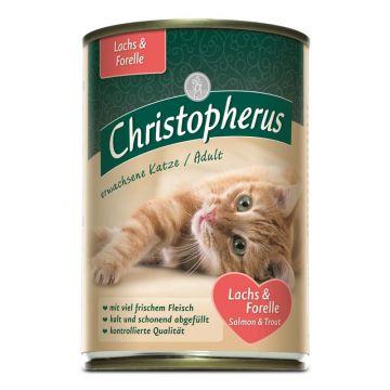 Christopherus Cat Dose Adult Lachs & Forelle 400g (Menge: 6 je Bestelleinheit)