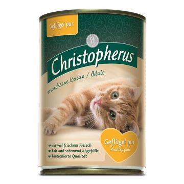 Christopherus Cat Dose Adult Geflügel pur 400g (Menge: 6 je Bestelleinheit)