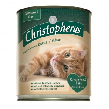 Christopherus Cat Dose Adult Kaninchen & Ente 800g (Menge: 6 je Bestelleinheit)
