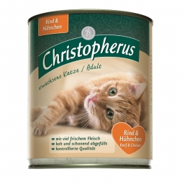 Christopherus Cat Dose Adult Rind & Huhn 800g (Menge: 6 je Bestelleinheit)