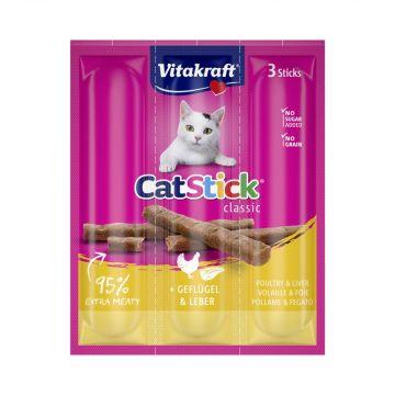 Vitakraft Cat-Stick mini Geflügel & Leber 3er Pack