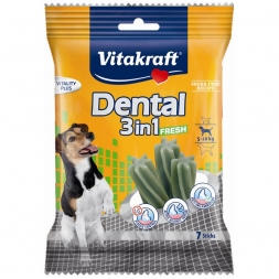 Vitakraft Dental 3 in 1 fresh, Größe: S, 5 - 10 kg, 7 Sticks