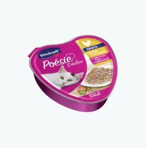 Vitakraft Poésie Sauce Huhn + Gartengemüse 85 g Schale