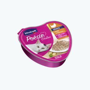 Vitakraft Poésie Sauce Pute + Käse 85 g Schale