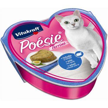 Vitakraft Poésie Terrine Scholle + Eihülle 85 g Schale
