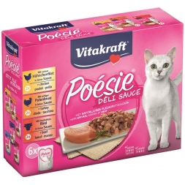 Vitakraft Poesie DeliSauce Fleisch Multipack 6 x 85 g Frischebeutel