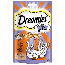 Dreamies Cat Snacks Mix mit Huhn & Ente 60g (Menge: 6 je Bestelleinheit)