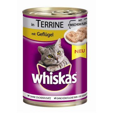 Whiskas Dose Terrine mit Geflügel 400g (Menge: 12 je Bestelleinheit)