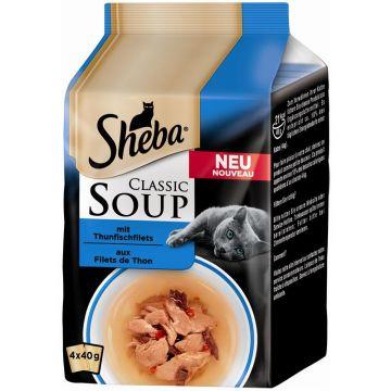 Sheba Portionsbeutel Multipack Classic Soup Thunfischfilets 4x50g (Menge: 12 je Bestelleinheit)