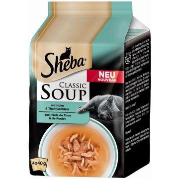 Sheba Portionsbeutel Multipack Classic Soup Thunfisch & Huhn 4x50g (Menge: 12 je Bestelleinheit)