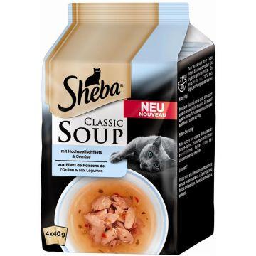 Sheba Portionsbeutel Multipack Classic Soup Hochseefischfilets 4x50g (Menge: 12 je Bestelleinheit)