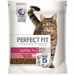 Perfect Fit Cat Active reich an Rind 750g