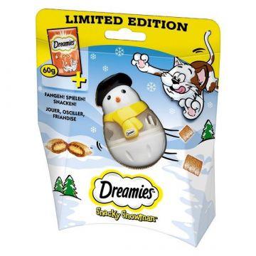 Dreamies Cat Snack mit Huhn 60g plus Snacky Snowman