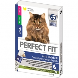 Perfect Fit Cat Snack Anti Hairball 4x12g (Menge: 11 je Bestelleinheit)