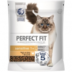 Perfect Fit Cat Sensitive 1+ reich an Huhn 750g
