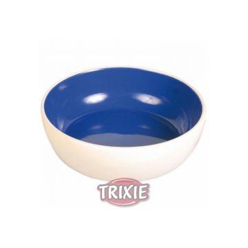 Trixie Keramiknapf, Katze 0,3 l  12 cm, creme blau