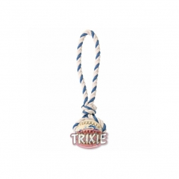 Trixie Naturgummiball am Seil  7 cm 24 cm