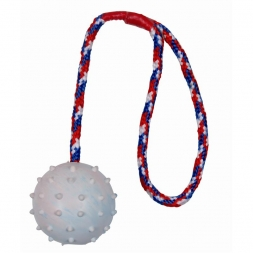 Trixie Ball am Seil, Naturgummi  6 cm 30 cm