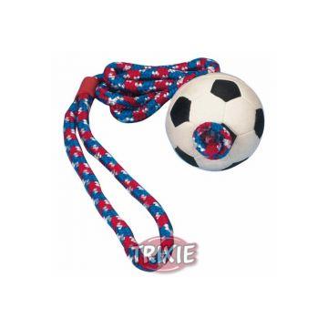 Trixie Fußball am Seil, Moosgummi  6 cm 1,00 m