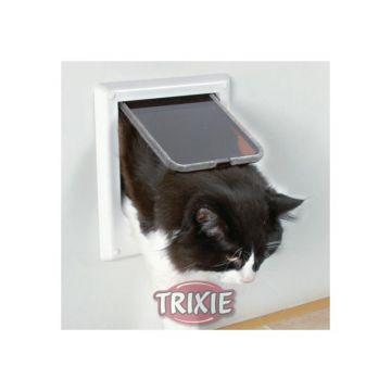 Trixie 4 Wege Freilauftür elektromagnetisch weiß