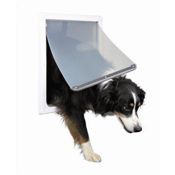 Trixie 2 Wege Freilauftür für Hunde M bis XL, weiß