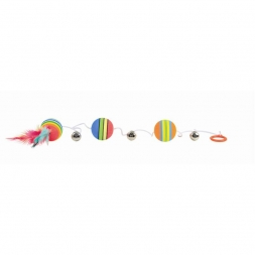 Trixie Rainbow Bälle am Gummiband  3,5 cm 80 cm