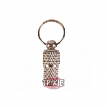 Trixie Adressanhänger, Metall verchromt