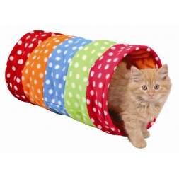 Trixie Spieltunnel, Fleece  25 × 50 cm, bunt