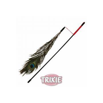 Trixie Spielangel mit Pfauenfeder 47 cm