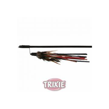 Trixie Spielangel mit Lederbändchen und Feder 50 cm