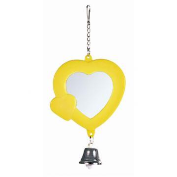 Trixie Herz Spiegel mit Glocke 7 cm