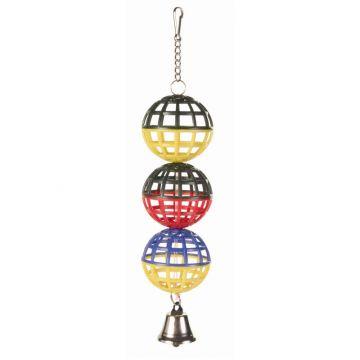 Trixie 3er Gitterball mit Kette Glocke 16 cm