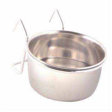Trixie Edelstahlnapf mit Halter 150 ml  7 cm