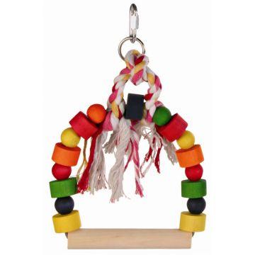 Trixie Bogenschaukel mit bunten Holzklötzen 13 × 19 cm