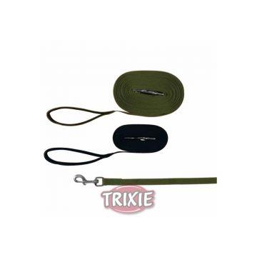 Trixie Schleppleine, Gurtband 15 m 20 mm, schwarz