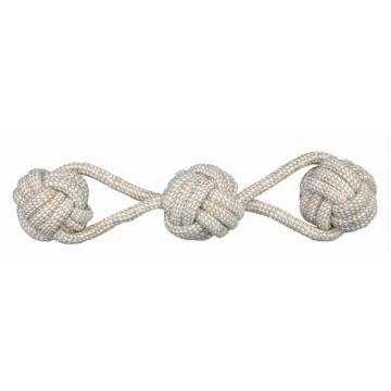 Trixie Denta Fun Spieltau mit 3 eingeflochtenen Bällen, durch. 8 cm/37 cm