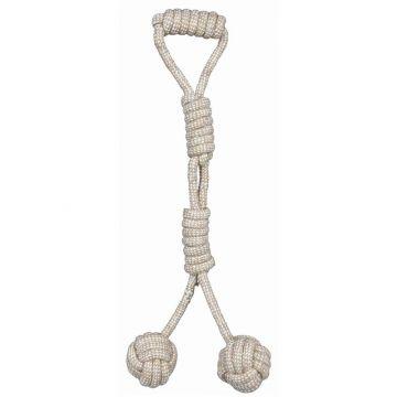 Trixie Denta Fun Spieltau mit 2 eingeflochtenen Bällen, durch. 8 cm/54 cm