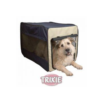 Trixie Transport Hütte Twister Gr.M, dunkelblau hellblau