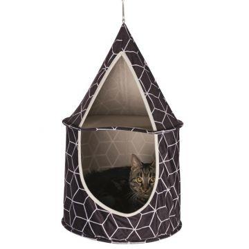 Trixie Kuschelhöhle Hanka zum Aufhängen schwarz 35 × 60 cm