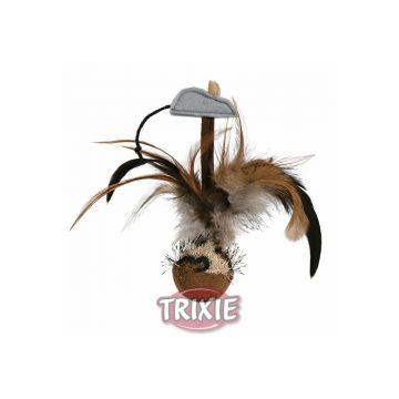 Trixie Federball mit Maus 15 cm