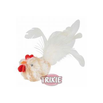 Trixie Hahn mit Federn, Plüsch 8 cm